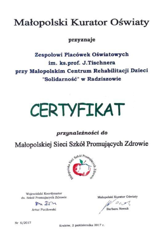 thumbnail of Certyfikat