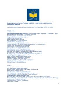 thumbnail of Złota lista książek dla dzieci i rodziców – 28.08.2019 r.