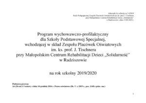 thumbnail of Program wychowawczo-profilaktyczny dla szkoły podstawowej 2019-2020