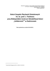 thumbnail of Statut ZPO – tekst ujednolicony 01.09.2019 r.