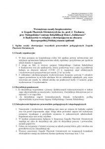 thumbnail of Wewnętrzne zasady bezpieczenstwa COVID-19 – od 8 czerwca 2020